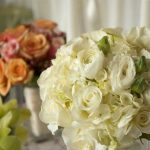 Wedding flowers by the Hudson